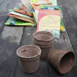 Choose your pot – these are peat pots