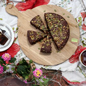 Fig & nut flour cake