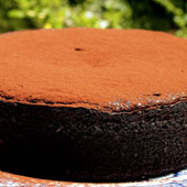 Boiled orange chocolate cake